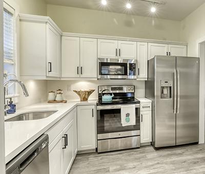 kitchen in remodeled villa